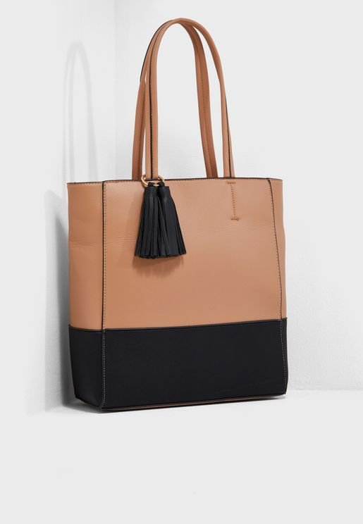 Block Tassel Shopper