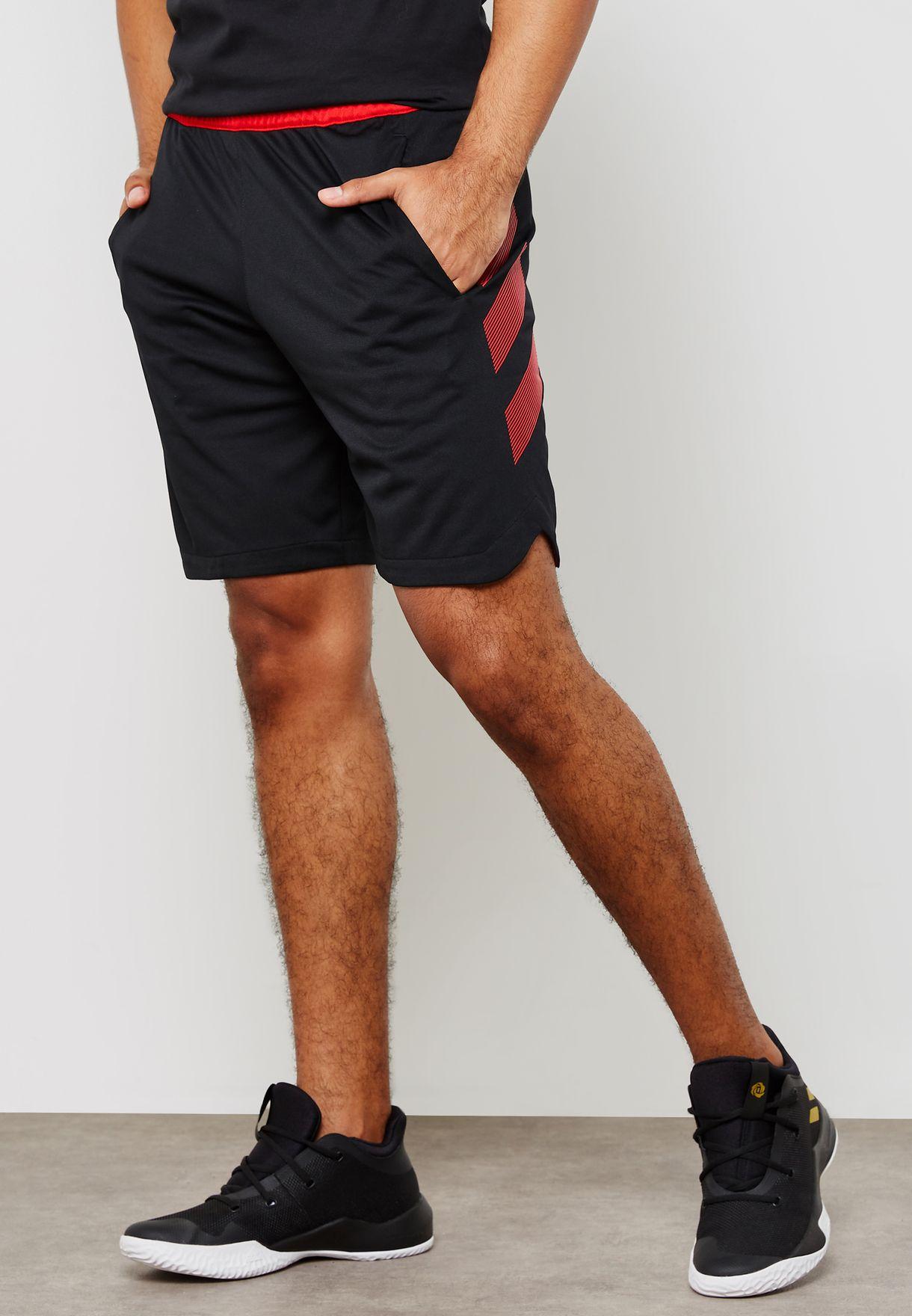 9f301001cfc7 Shop adidas black Accelerate 3 Stripe Shorts DM6993 for Men in UAE ...