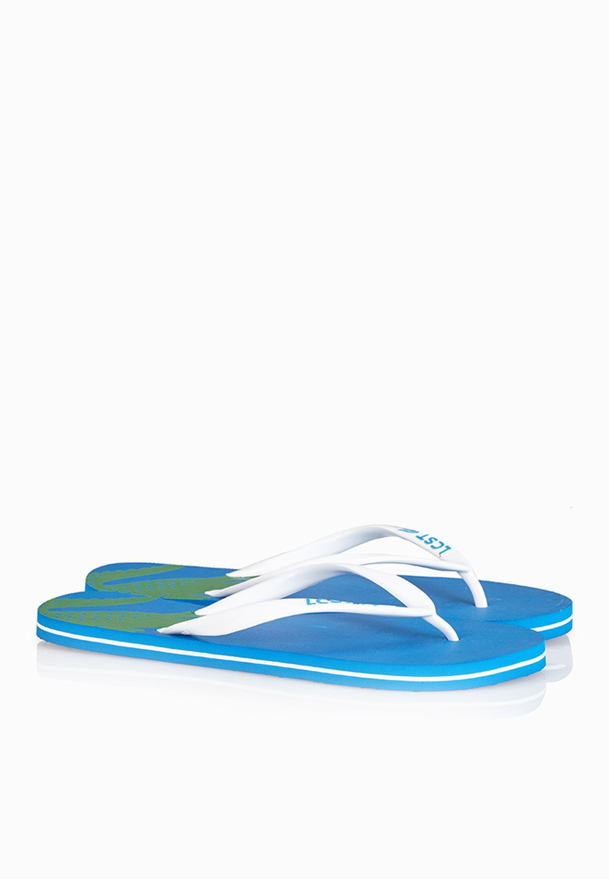 c2a00ca74c17 Shop Lacoste blue Frontflip CB Flip Flops 29SCM1118-S1L for Men in ...