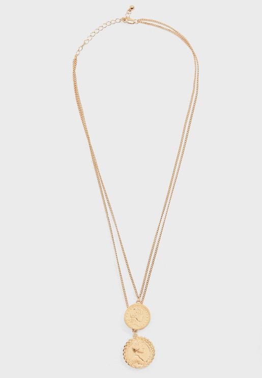 Karen Coin Layered Necklace