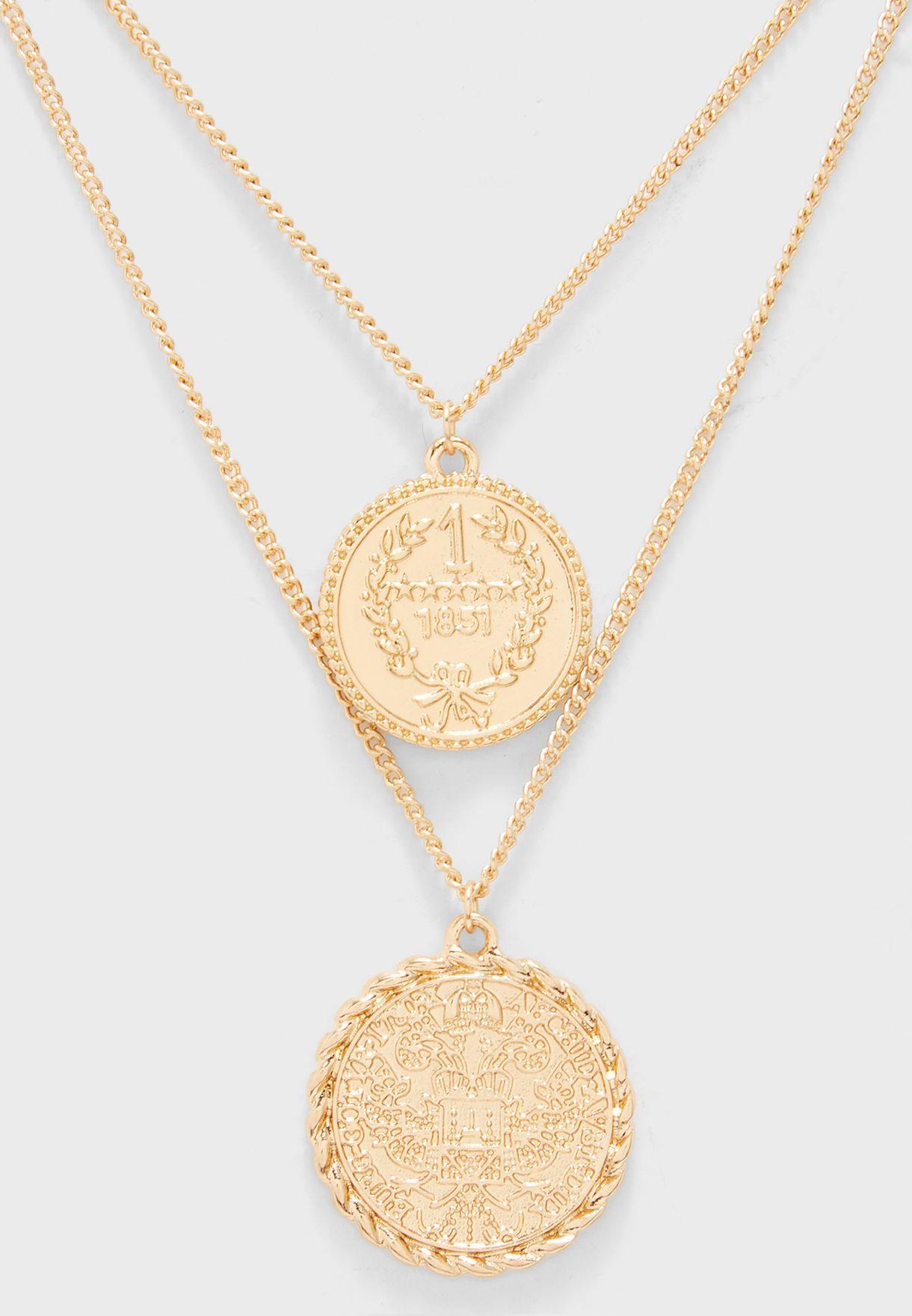 Karen Coin Layered Necklace