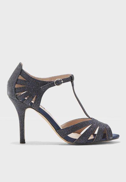 T Strap Heel Sandal