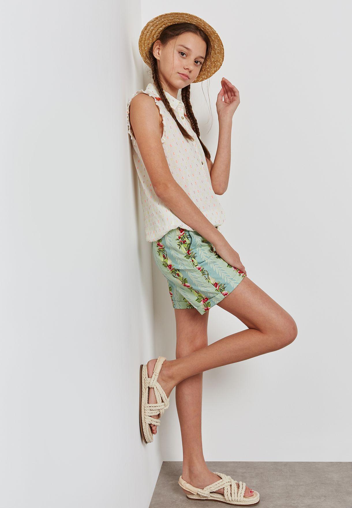 Teen Printed Shorts