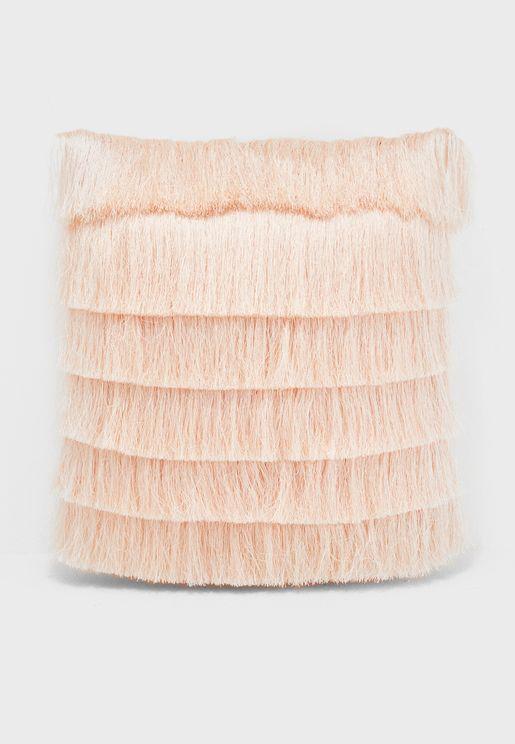 Layered Fringe Cushion 45x45cm Insert Included