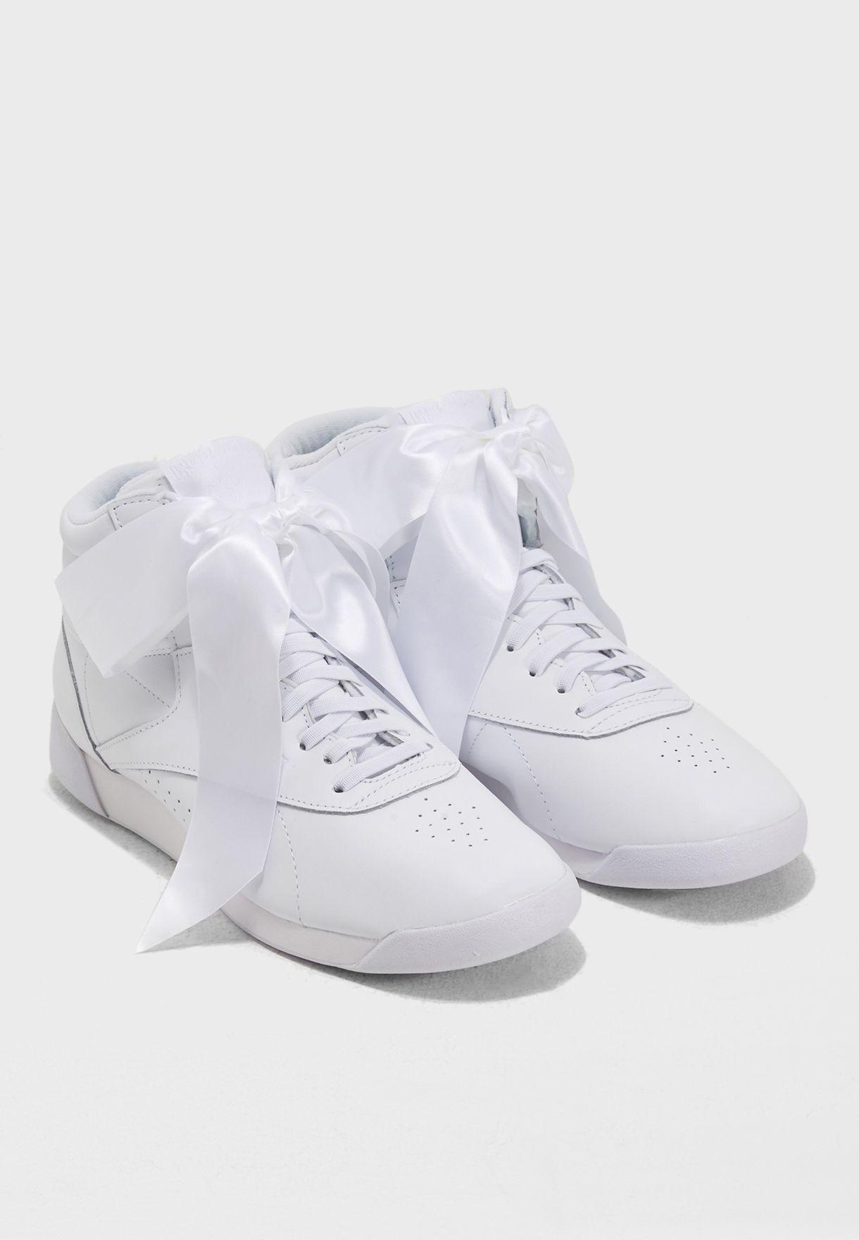 Shop Reebok white F S Hi Satin Bow CM8903 for Women in Oman - RE019SH66YLD 4a5b9c3cf