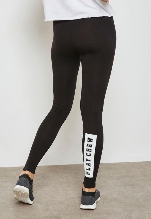 Slogan Leggings