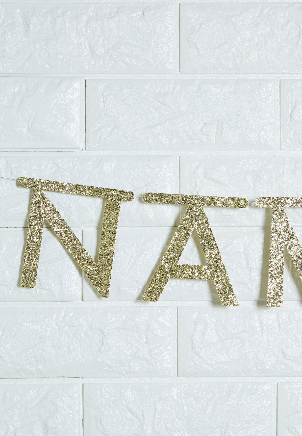 Glitter Letter Garland Kit