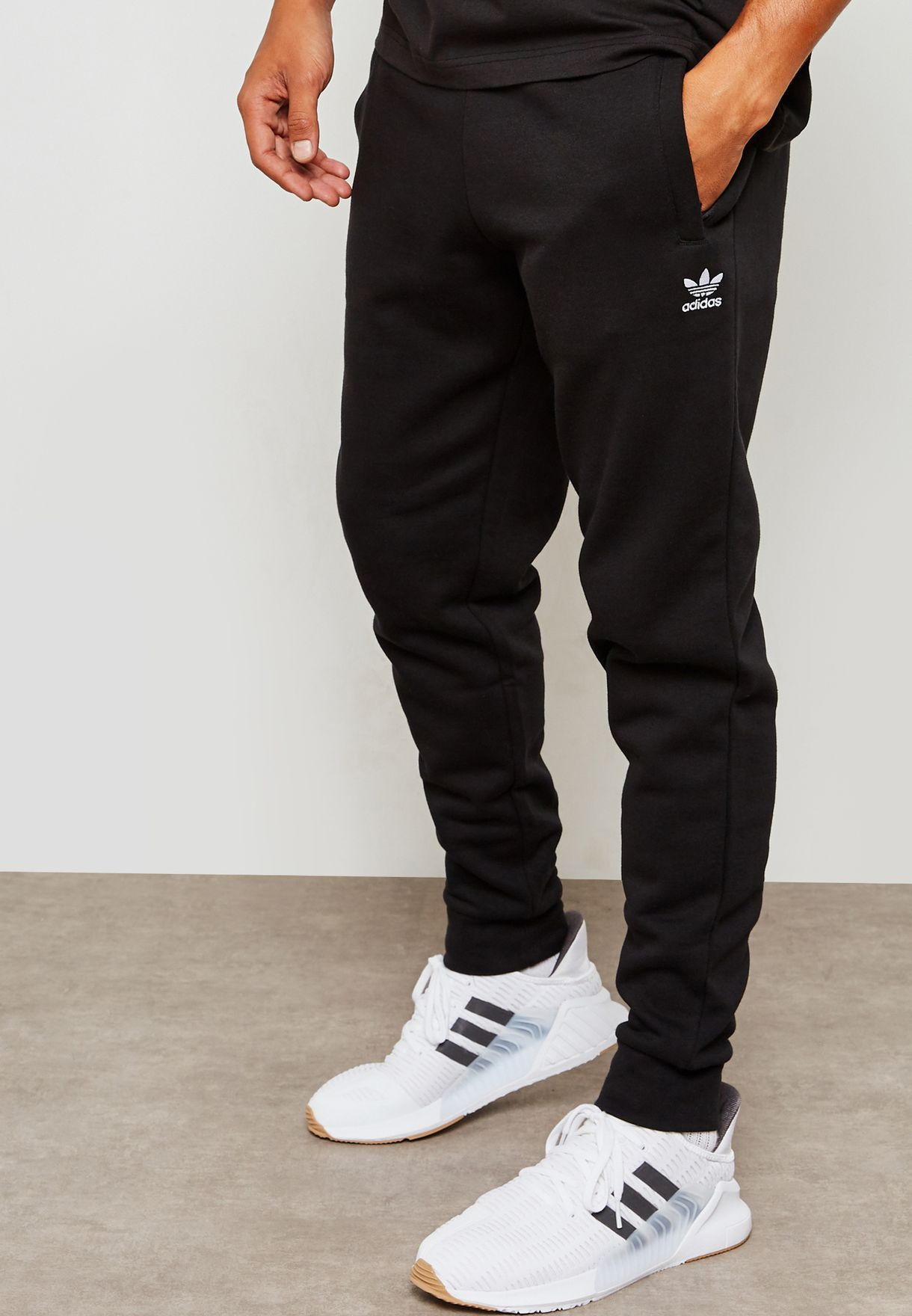 a6761172b Shop adidas Originals black Slim Fleece Sweatpants DN6009 for Men in ...