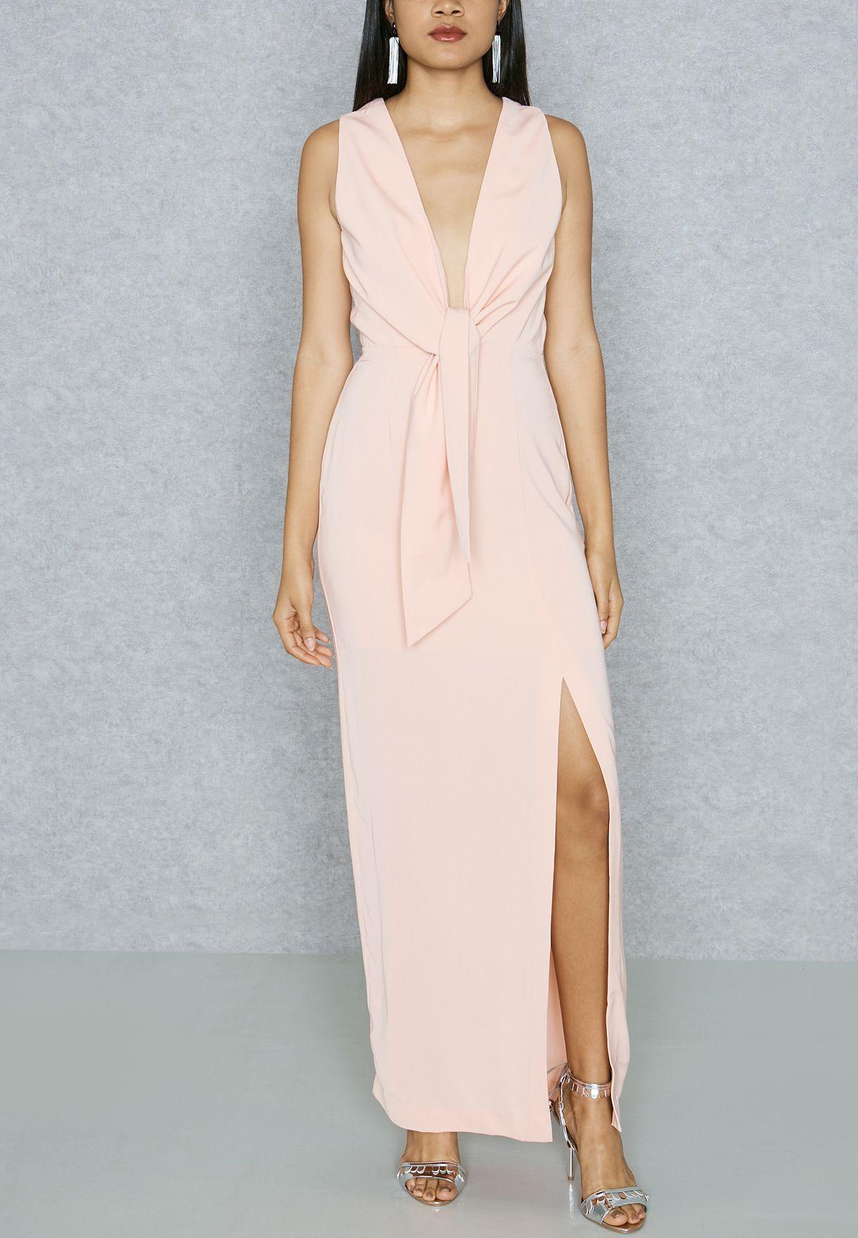 6337e9921f73a تسوق فستان بأربطة ماركة كيب سايك لون وردي KX170530D في عمان ...