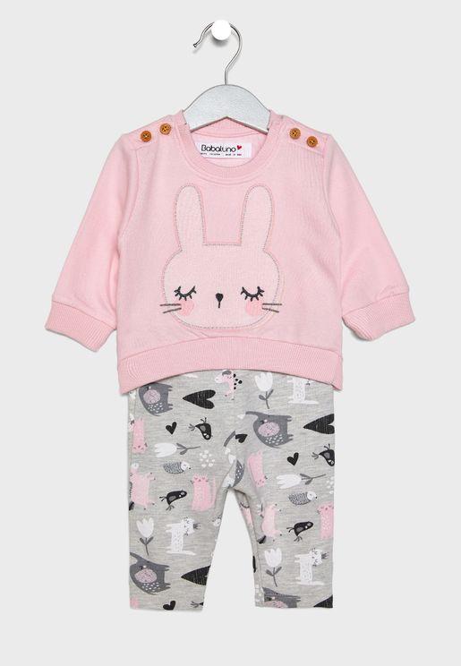 Infant Sweatshirt + Pants Set