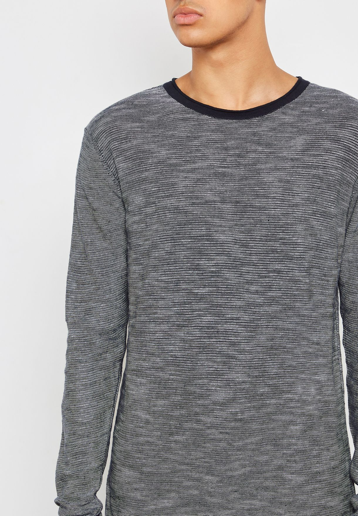 Retreat Striped Knitted T-Shirt