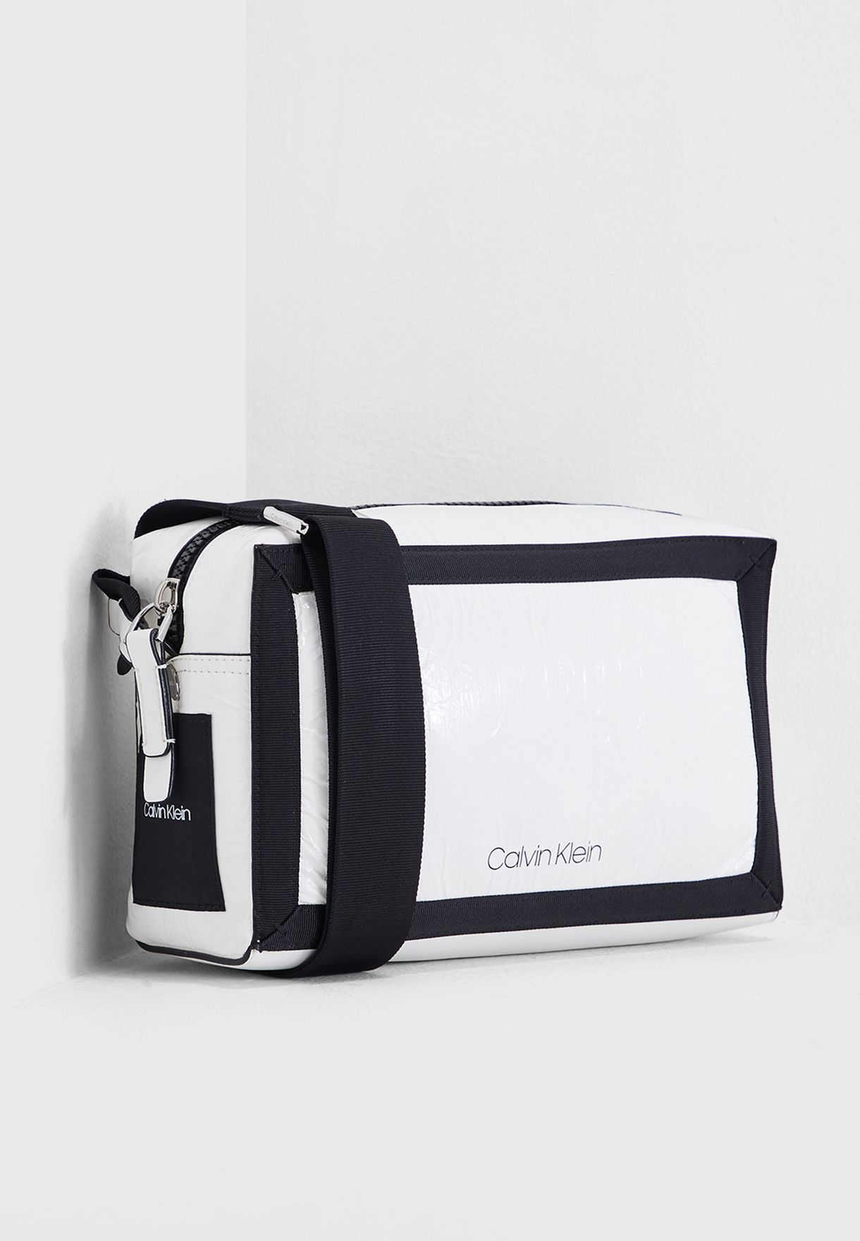 a4ba4c59e69 Shop Calvin Klein white Medium Outline Crossbody K60K604820 for ...
