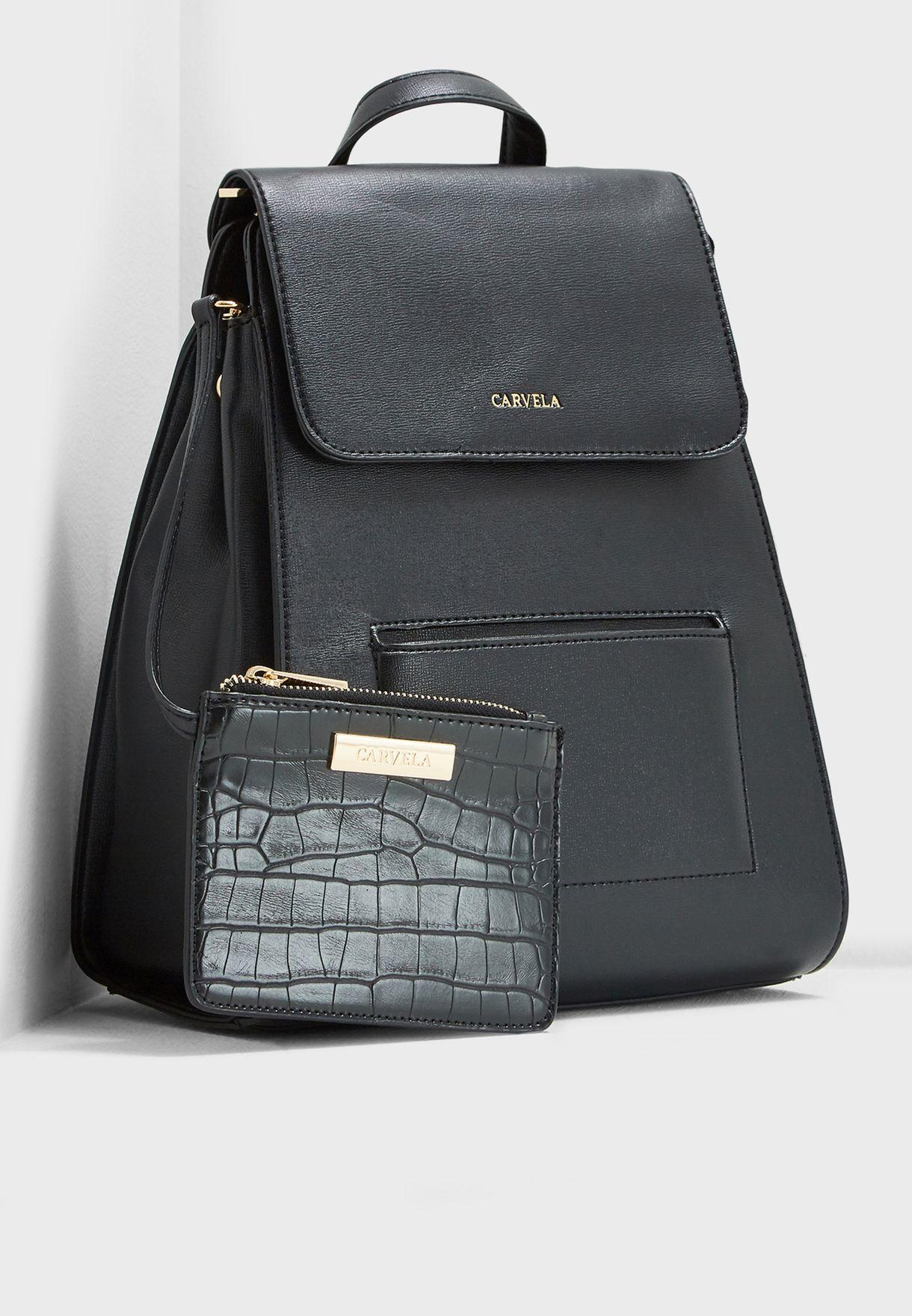 676e538373 Shop Carvela Kurt Geiger black Slinky Backpack SLINKY for Women in ...