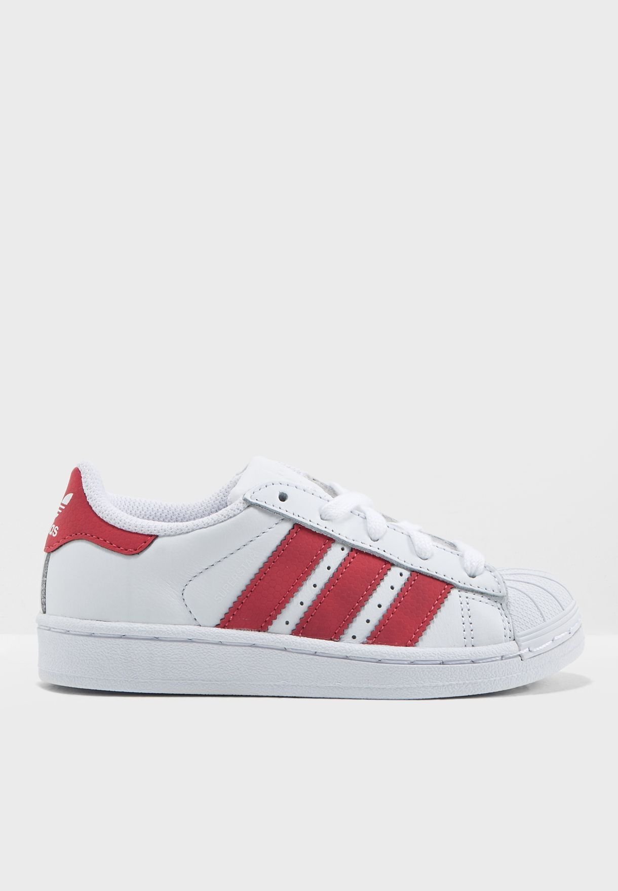 4f6705727db Shop adidas Originals white Superstar Kids CQ2723 for Kids in UAE ...