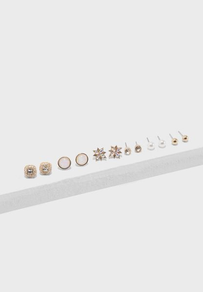 Iridescent Stud Earring Set
