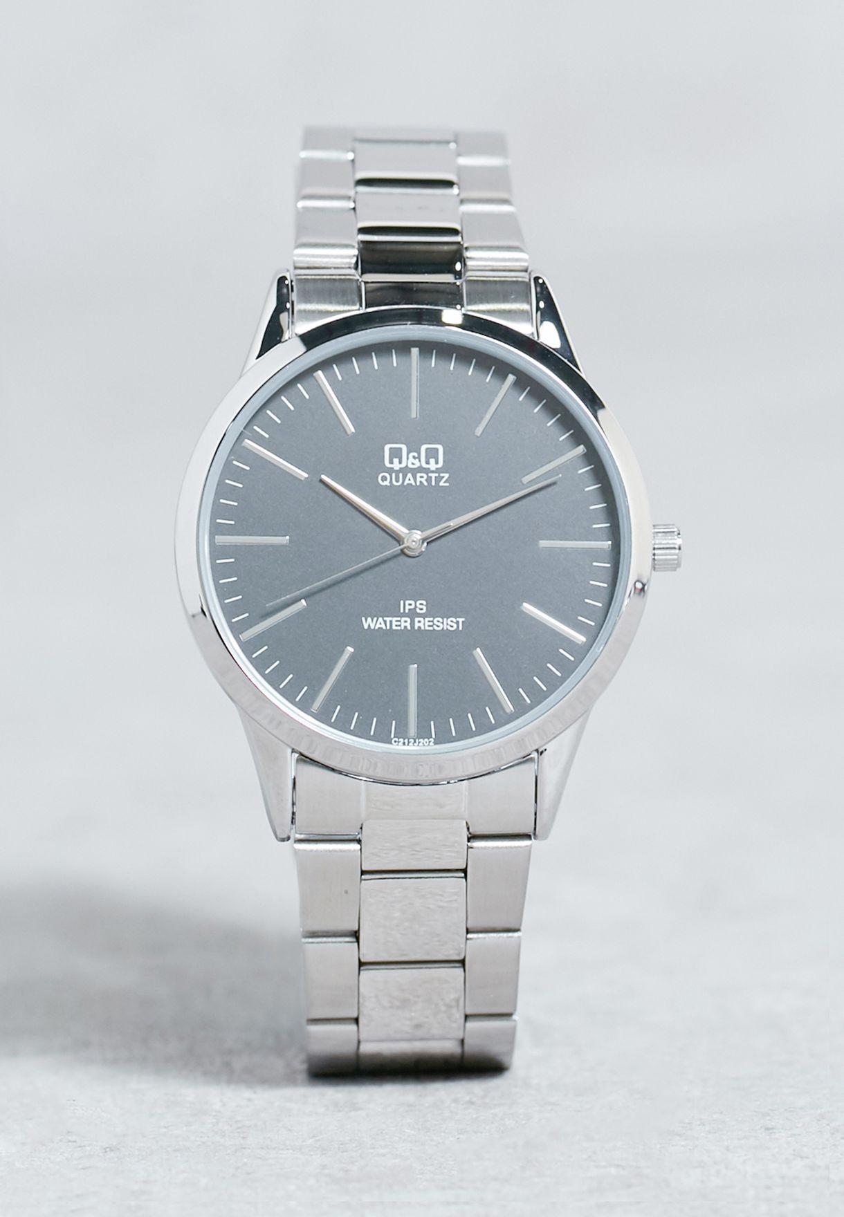 Buy Silver Dress Watch For Men In Dubai Abu Dhabi C212j202y