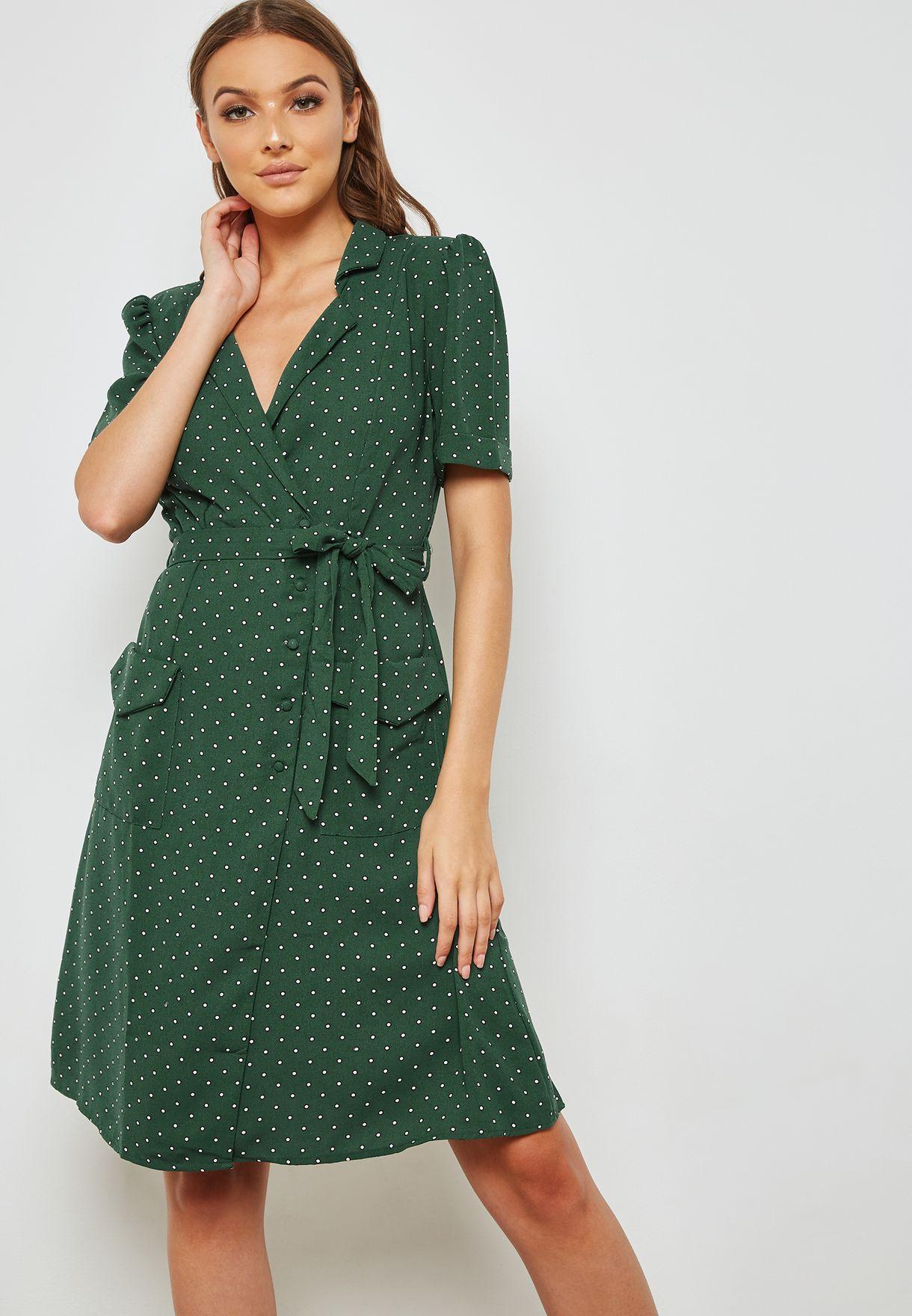 250e218b45c Shop Mango prints Polka Dot Wrap Dress 33033793 for Women in UAE ...