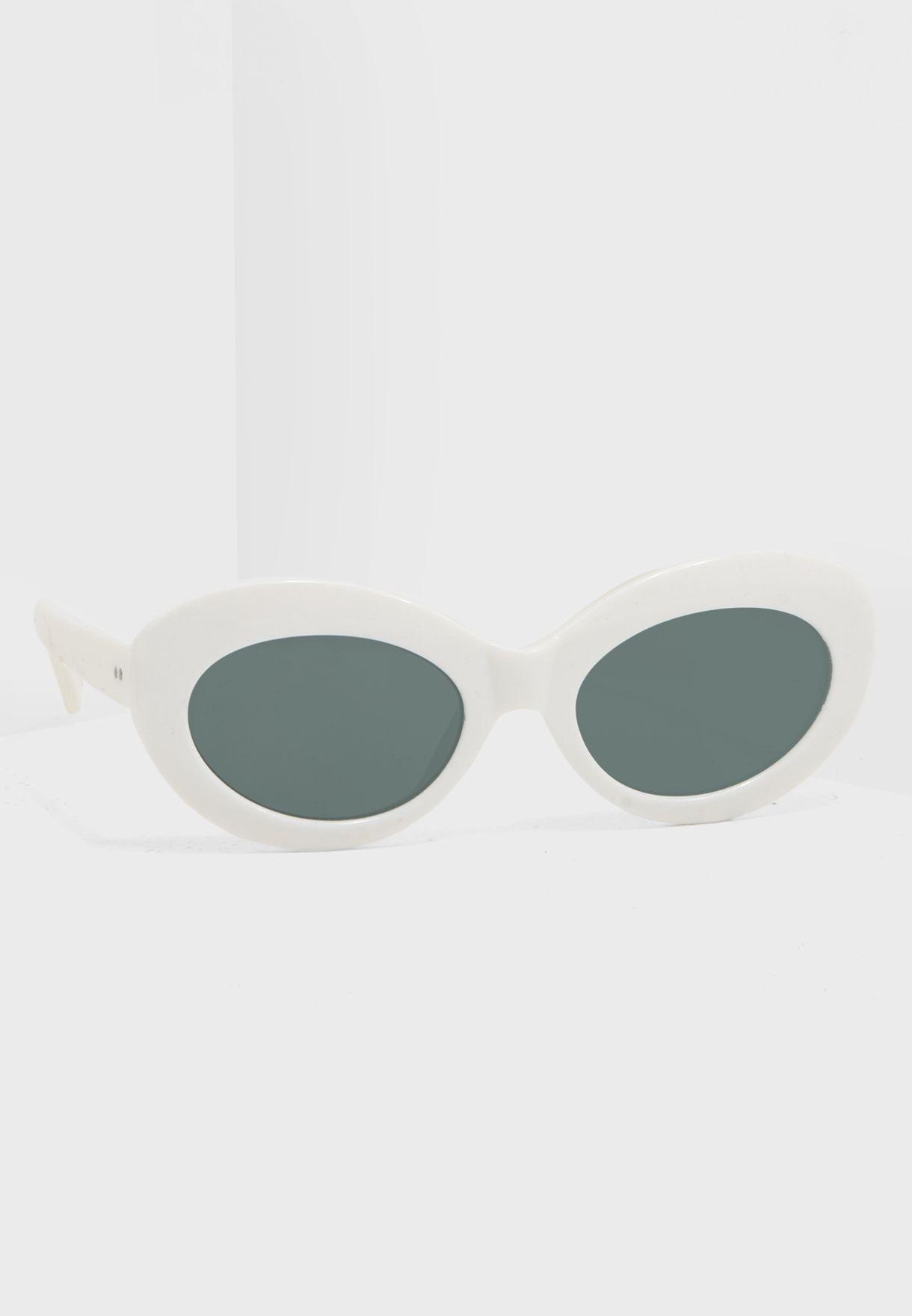 47494a3d7 تسوق نظارة شمسية بتصميم عصري ماركة مانجو لون أبيض 23037645 في عمان ...
