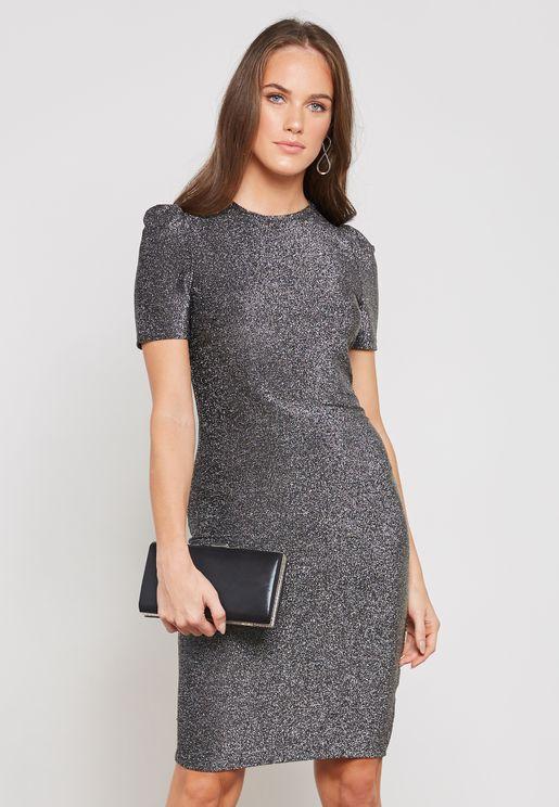 Shimmer Bodycon Dress