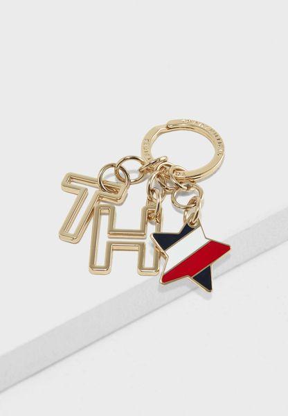حلقة مفاتيح بحلية شعار الماركة