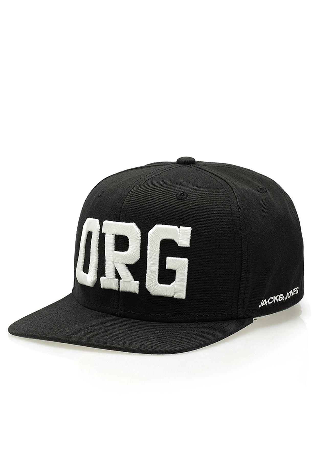 Shop Jack Jones black Arny Snapback Cap for Men in Oman - JA872AC66AMR ad9a4aeaec8