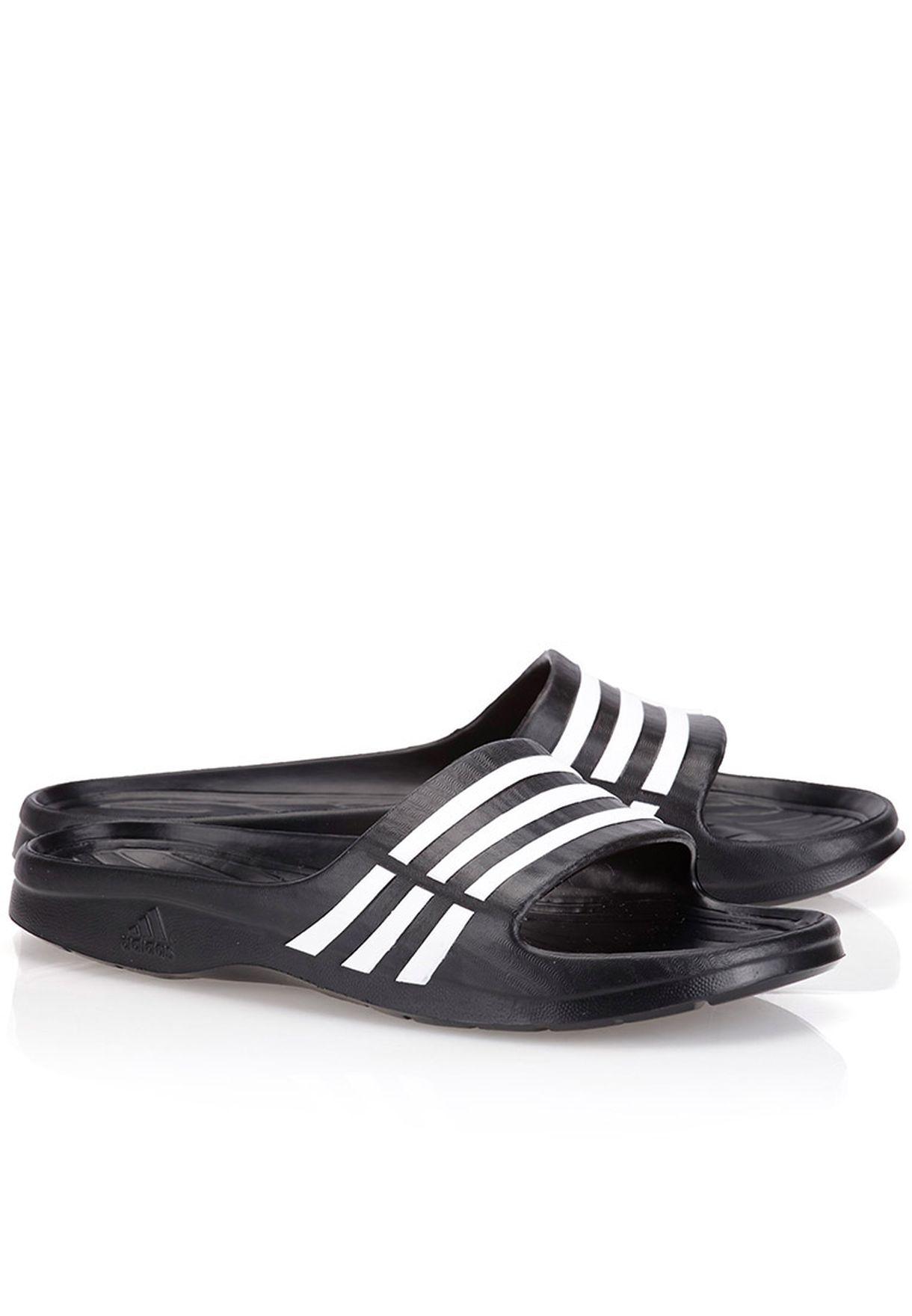 ff50dba3b5e Shop adidas black Duramo Sleek Slides G62036 for Women in Oman ...