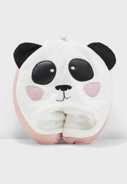 Panda Hooded Neck Pillow