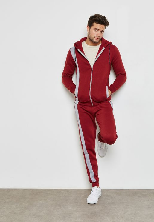 Striped Detailed Skinny Fit Tracksuit