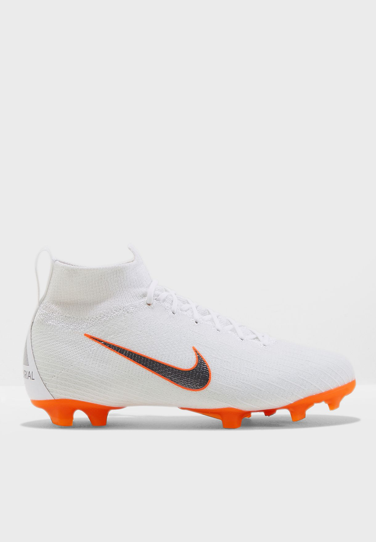 e6ac242e2 Shop Nike white Youth Mercurial Superfly 6 Elite FG AH7340-107 for ...