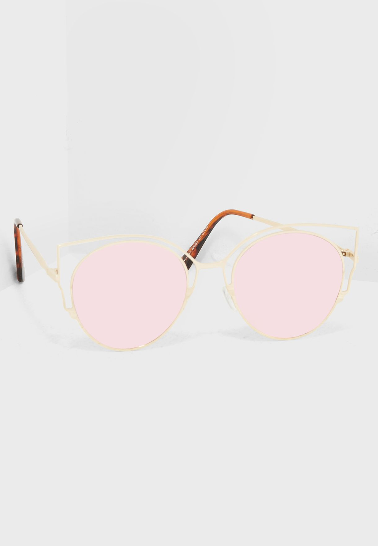 0be109bb82 Shop Jeepers Peepers gold Cutout Cat Eye Sunglasses JP-1831 for Women in  Saudi - JE122AC66ITH