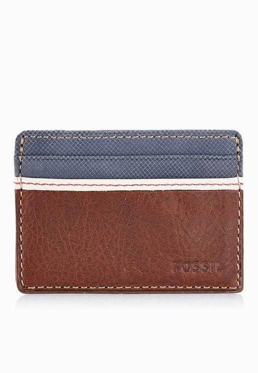 محفظة بطاقات من جلد اصلي