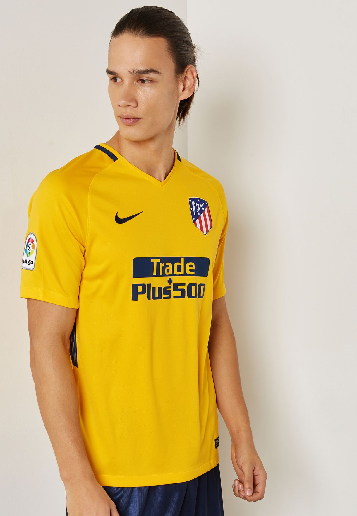 33c176b1 Shop Nike yellow Atletico Madrid 17/18 Away Jersey 847290-740 for ...