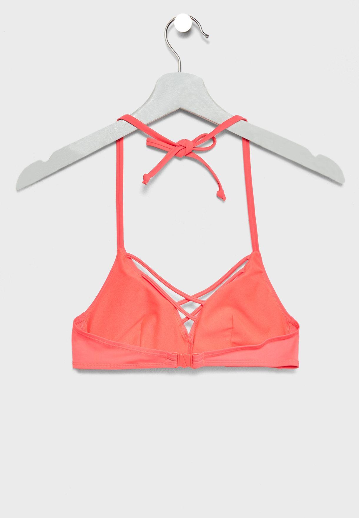 Criss Cross Detail Bikini Top