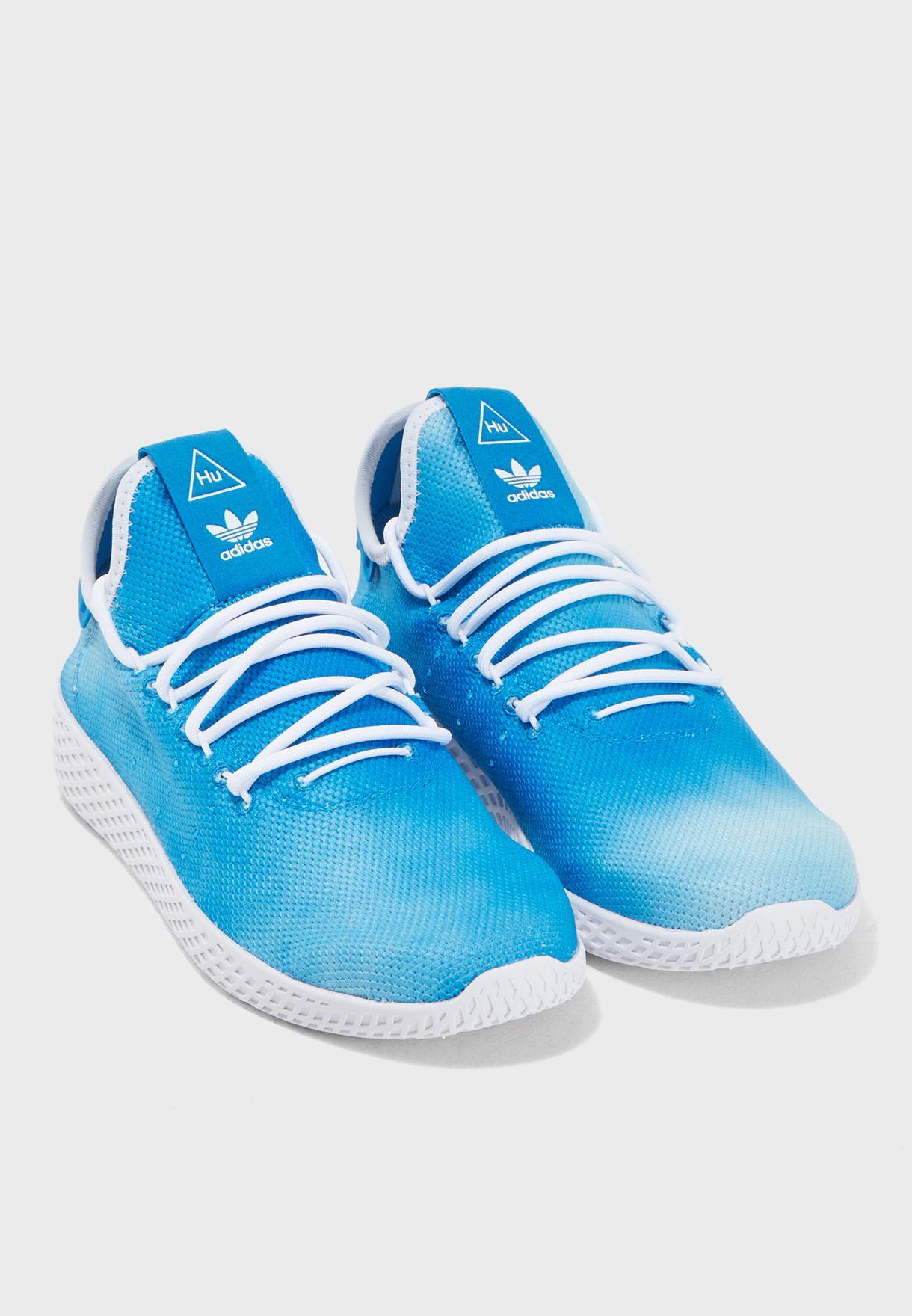 138107799fb42 Shop adidas Originals blue Pharrell Williams Hu Holi Tennis DA9618 ...