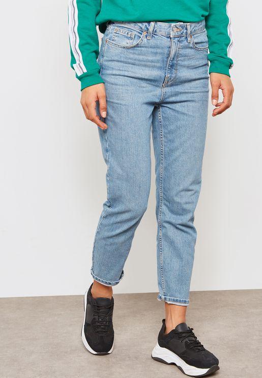 Moto Mid Wash Skinny Jeans