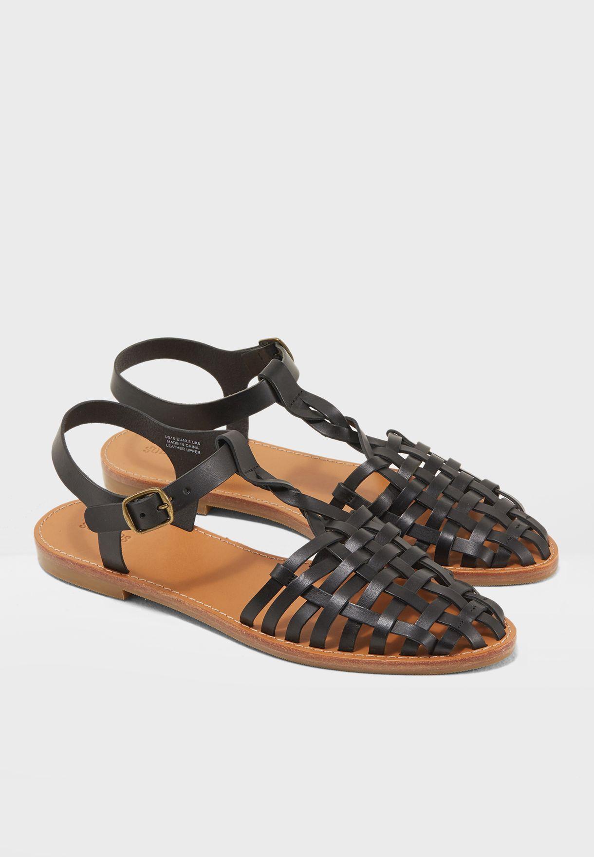 244635fe2 Shop Soludos black Woven Fisherman Sandal 1000302 for Women in Saudi ...