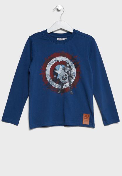 Little Captain America T-Shirt