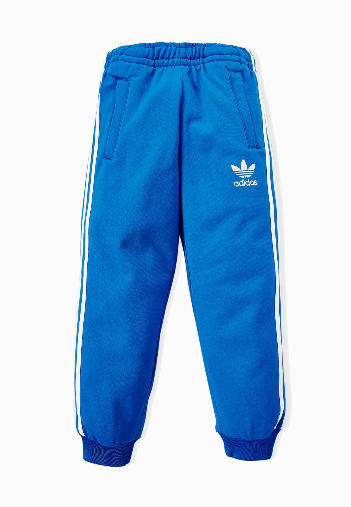 5c7840ea874d Shop adidas Originals blue Youth Superstar Sweatpants S96114 for ...