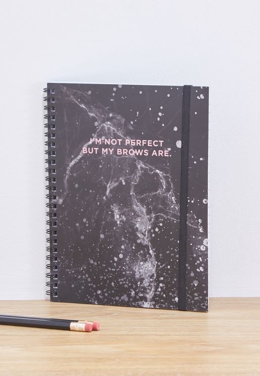 A5 Marble Brows Spinout Notebook