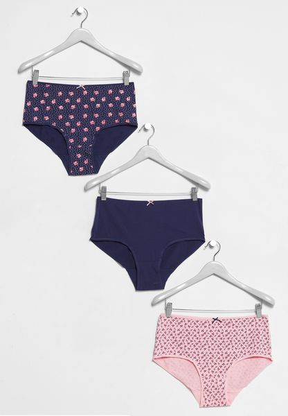 3 Pack Bow Briefs