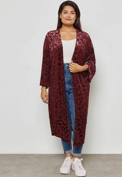 Velvet Burn Out Kimono