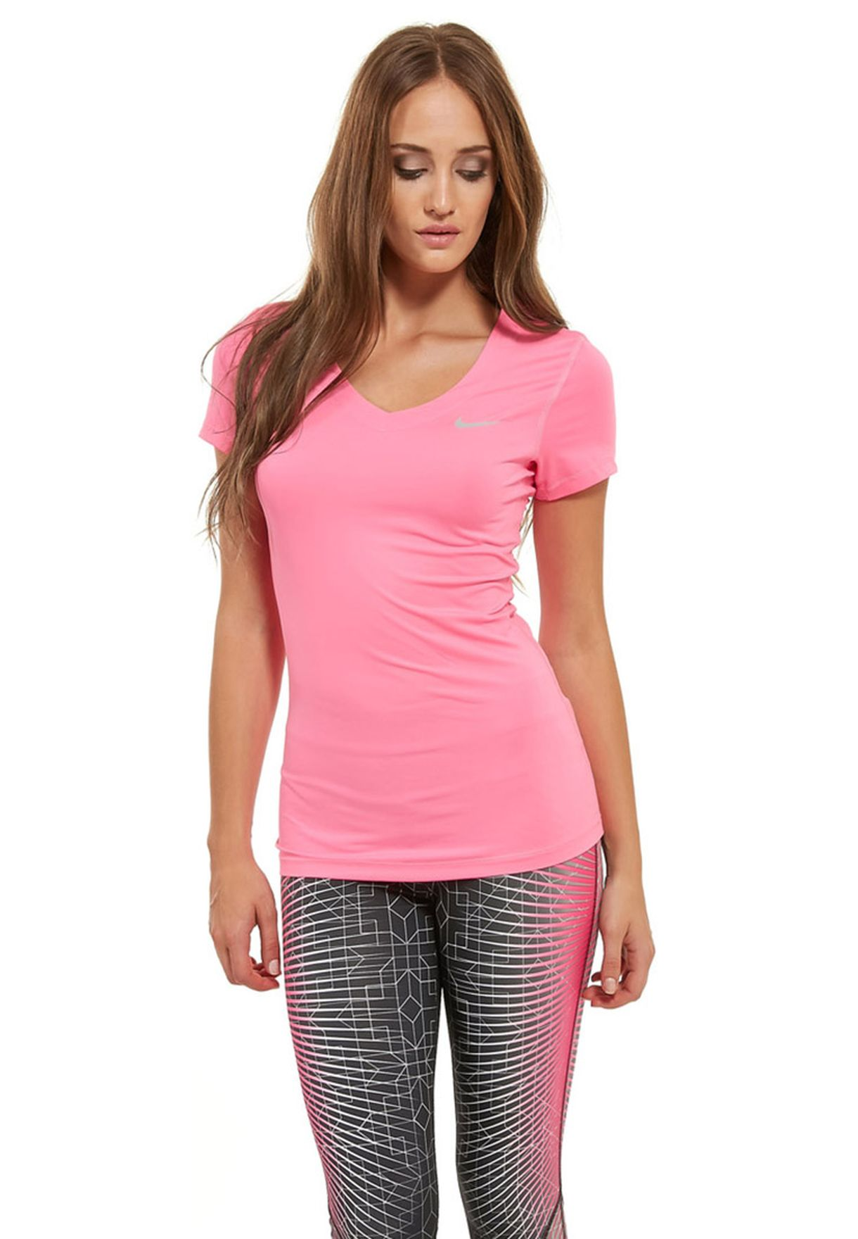 Pink Oman Nike 682 Women Nkap589370 Ss V Neck Shop Pro In For w1PWC5xq