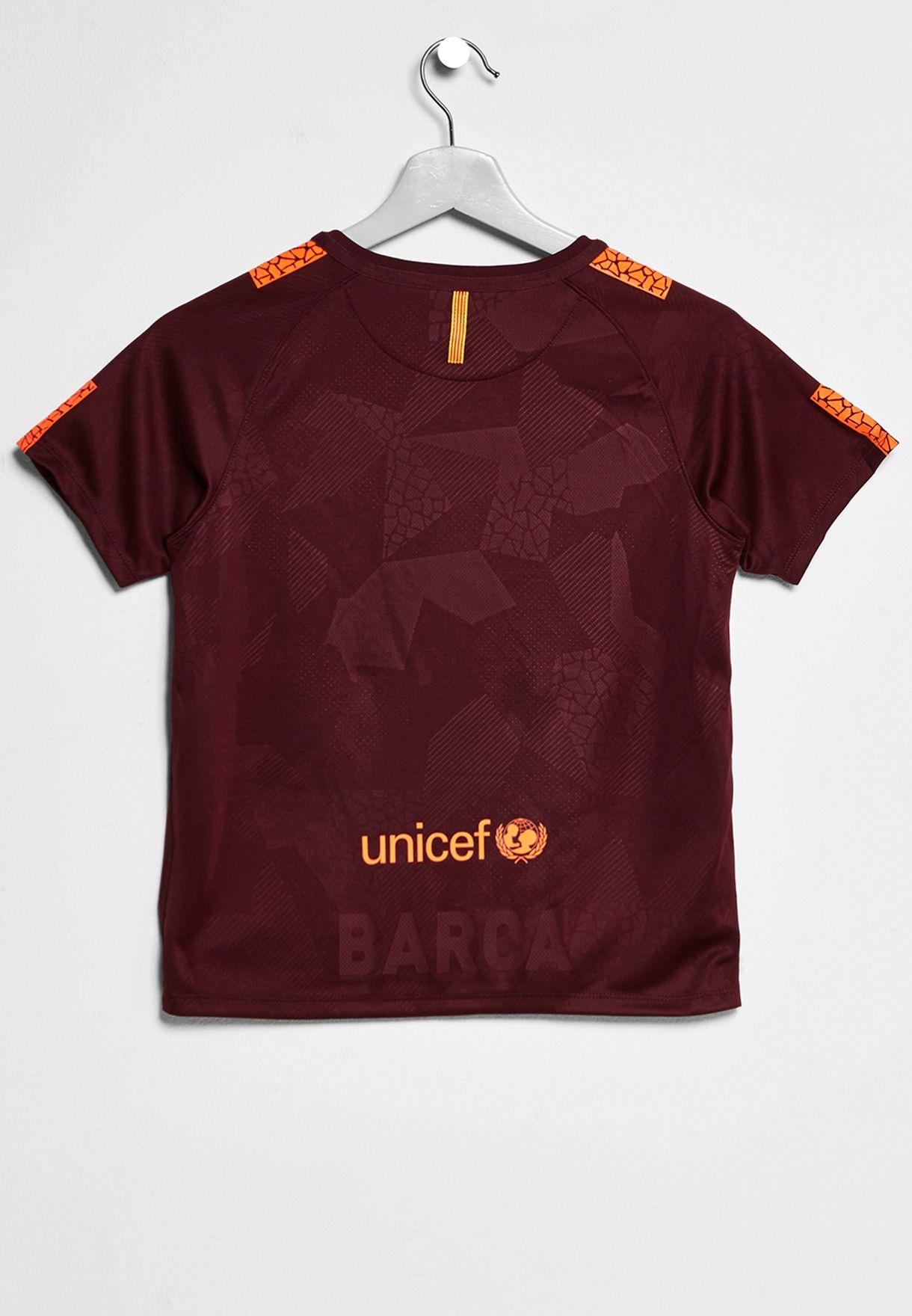 3144ccaec1d Shop Nike burgundy Kids FC Barcelona 3rd Kit 847353-683 for Kids in ...