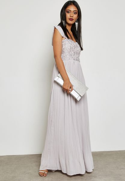 Bardot Pleated Maxi Dress