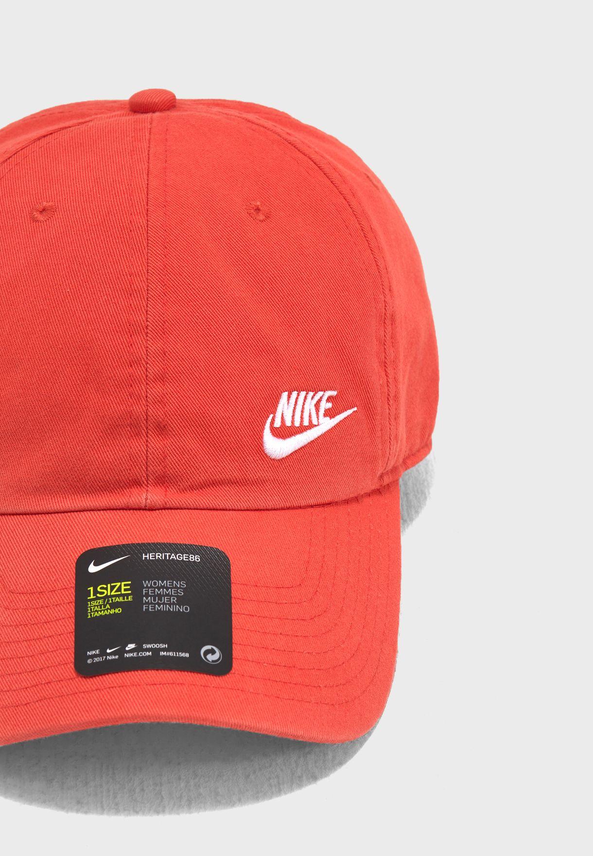 a4e6892dc76 Shop Nike orange H86 Futura Classic Cap 832597-816 for Women in ...