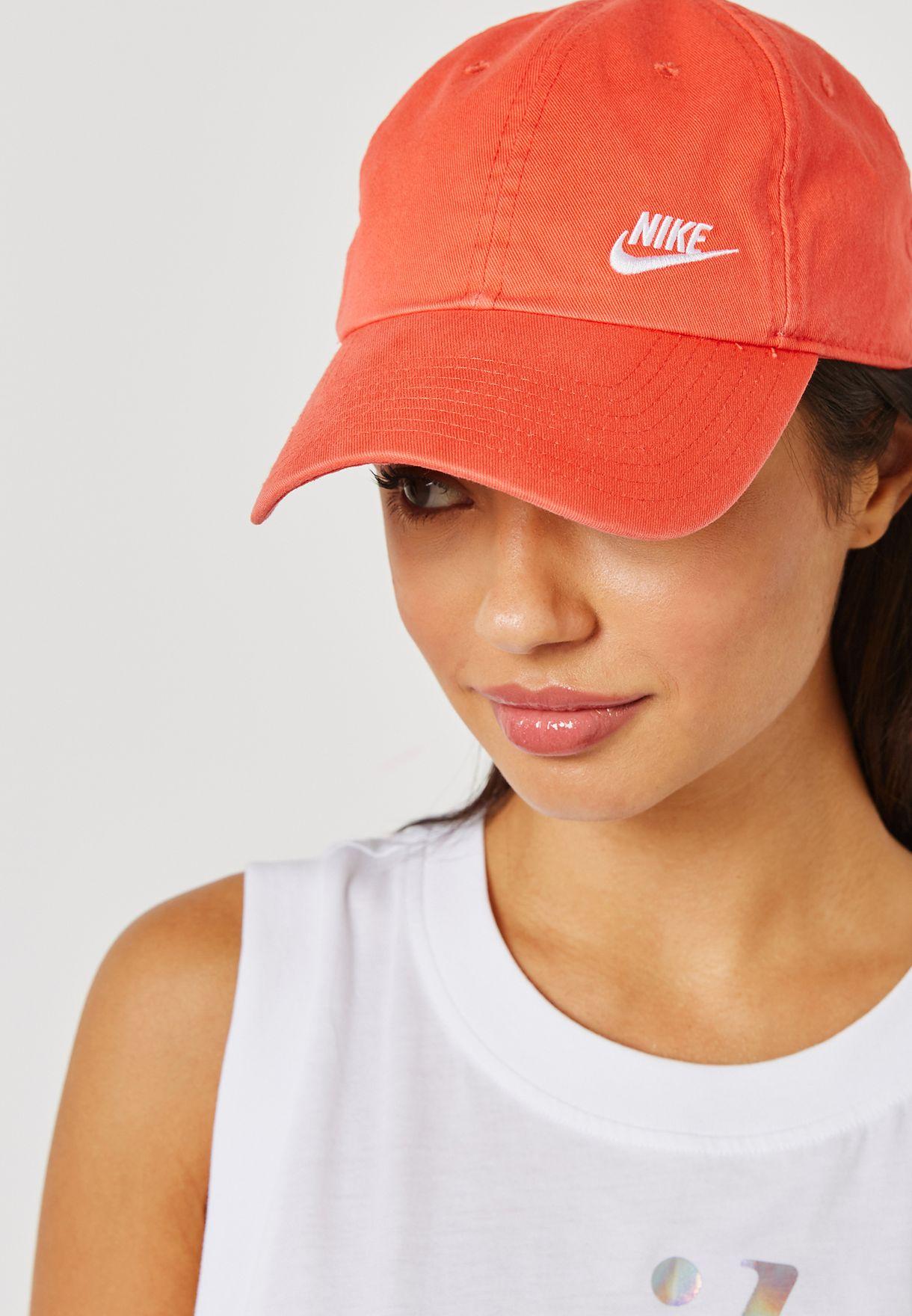 e74fbdb8a4ee6 Shop Nike orange H86 Futura Classic Cap 832597-816 for Women in UAE ...