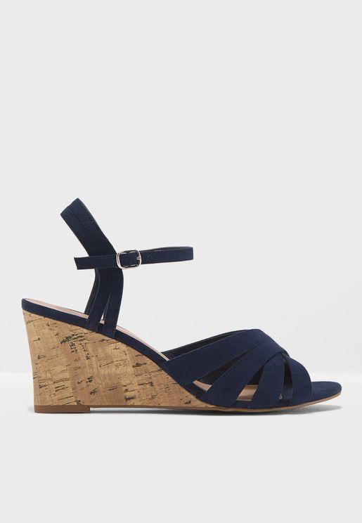 Poofy Wedge Sandal