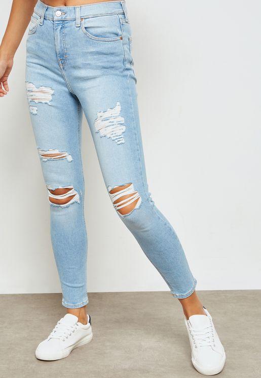 MOTO Bleach Super Ripped Jamie Jeans