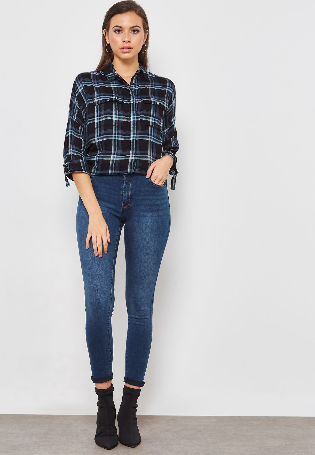 Ashley Mid Rise Straight Leg Jeans