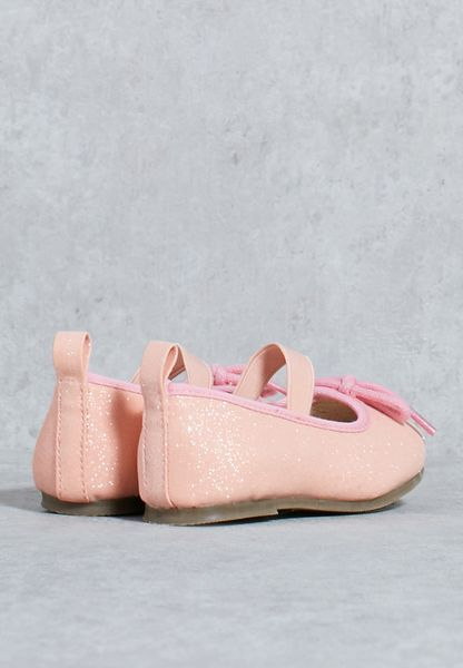 competitive price 1f4a3 36f9a Shop Angels face pink Glitter Ballet Pump Rose GLITTERR for Children in UAE  lovely